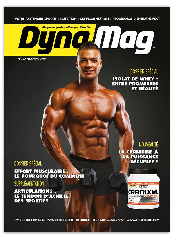 Consultez le Dynamag votre partenaire sportif - nutrition - supplémentation